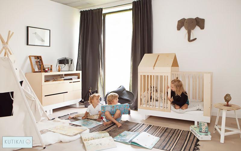 KUTIKAI Babybett Kinderzimmer Kinderecke  |