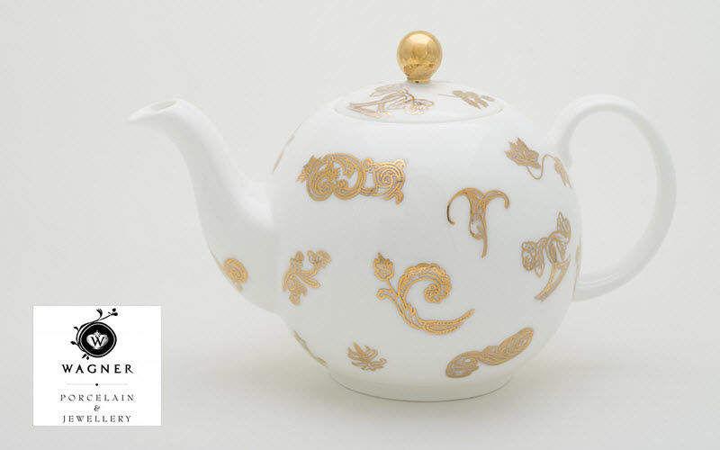 WAGNER PORCELAIN & JEWELLERY Teekanne Kaffee- und Teekannen Geschirr   
