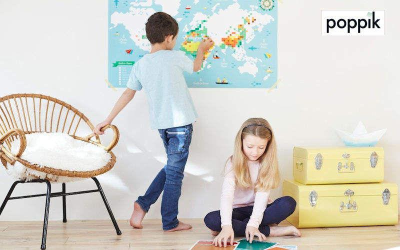 POPPIK Landkarte Verschiedene Artikel zum Verschönern Verzierung  |