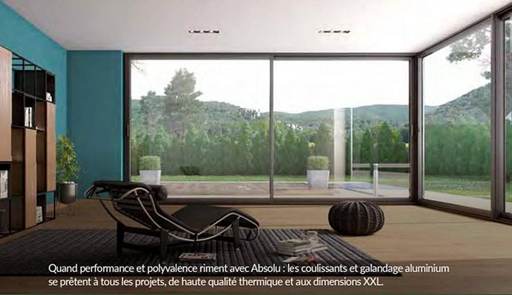 Bieber Bois Schiebeglasfensterfront Balkon-/Terrassentüren Fenster & Türen  |