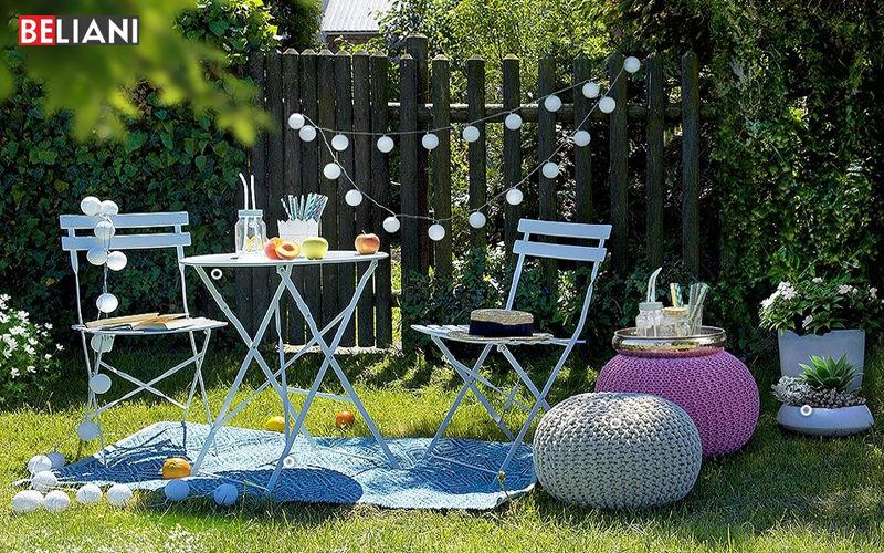 BELIANI Rundes Gartentisch Gartentische Gartenmöbel  |