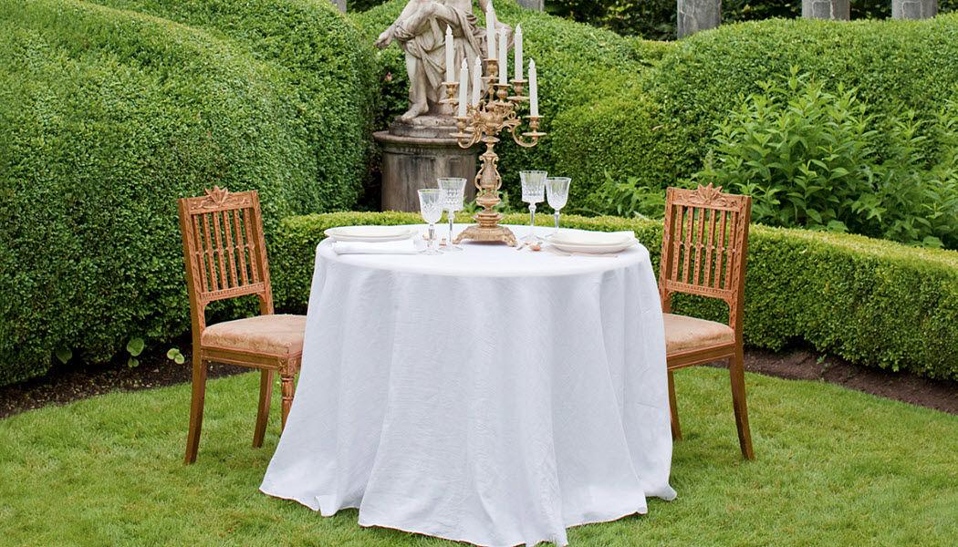 ST. GENEVE Runde Tischdecke Tischdecken Tischwäsche  |