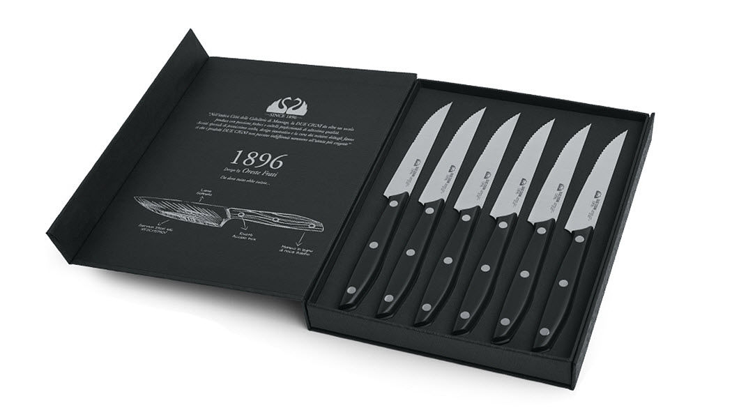 DUE CIGNI Steak-Messer Messer Bestecke   