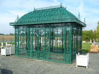 antiquites materiaux anciens deco de jardins - serre g6 en fer forgé - Gewächshaus
