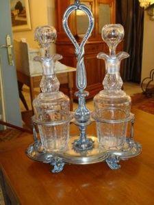 Art & Antiques - huilier vinaigrier xixe - Essig Und Öl Set