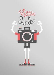 Dezzig - affiche sérigraphie please smile - Plakat
