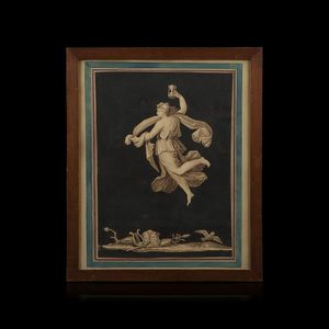 Expertissim - ecole néoclassique italienne, xixe siècle. allégor - Bleistiftzeichnung