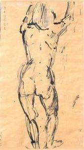 Michel Maugee -  - Tuschezeichnung