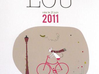 ICI LA TERRE - poster prénom petite fille paris - Dekorative Gemälde Für Kinder