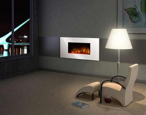 CHEMIN'ARTE - cheminée design white loft en acier et mdf laqué b - Geschlossener Kamin