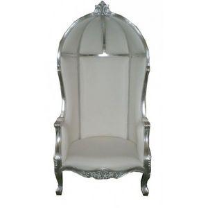 DECO PRIVE - fauteuil royal haut de gamme argent carosse de mar -