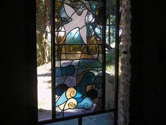 RIVAGES DE VERRE - colombe - Buntglasfenster