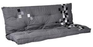Futon Design - matelas-futon pixel gris dos eveloppant 135 x 190  - Schlafcouch Matratze
