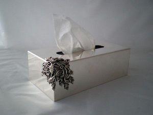 NOEL COLLET Orfèvre - fleur - Papiertaschentuch Behälter