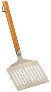 DM CREATION - spatule plancha extra large en bambou et inox 50cm - Grillzubehör