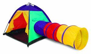 Traditional Garden Games - tente d'aventure colorée pour enfant 183x102x94cm - Kindergartenhaus