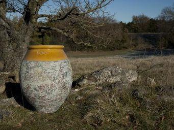 TERRES D'ALBINE - jarre olive h110, patine classique - Gartenamphore