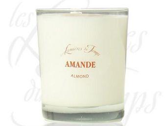 LES LUMIÈRES DU TEMPS - bougie végétale parfumée amande - 180 g - les lumi - Duftkerze