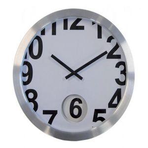 INVOTIS - horloge murale blanche l - Pendelwanduhr
