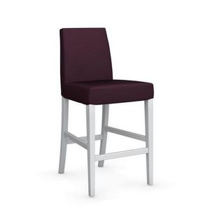 Calligaris - chaise de bar latina de calligaris aubergine et hê - Barstuhl