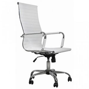 WHITE LABEL - fauteuil de bureau noir et chromé - Bürosessel