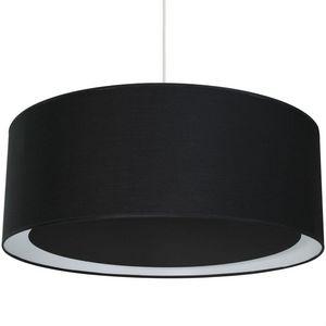 Metropolight - essentiel - suspension occultant ø58cm noir | susp - Deckenlampe Hängelampe