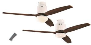 EVT/ Casafan - Ventilatoren Wolfgang Kissling - ventilateur de plafond dc, moderne 132 cm laqué bl - Deckenventilator