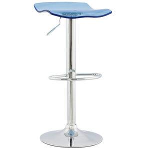 KOKOON DESIGN - tabouret de bar plexiglass surf bleu - Barstuhl