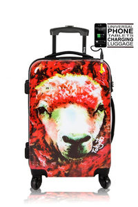 TOKYOTO LUGGAGE - red sheep - Rollenkoffer