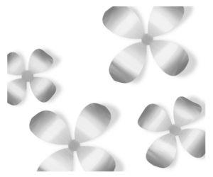 Umbra - fleurs murales métal (lot de 9) - Wanddekoration