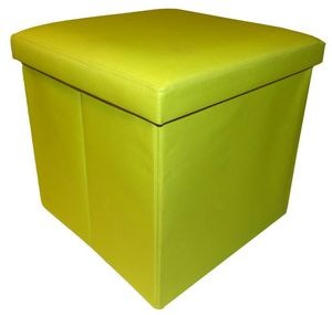 Cotton Wood - pouf pliable oxford anis - Sitzkissen