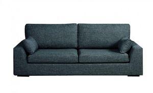Home Spirit - canapé fixe tenerife 2 places tissu tweed bleu tur - Sofa 2 Sitzer