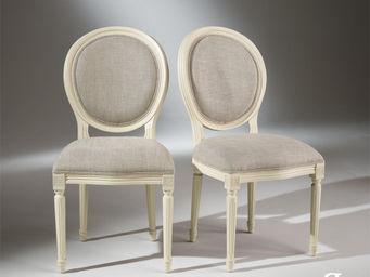 Robin des bois - 2 chaises médaillon blanches - Medaillon Stuhl