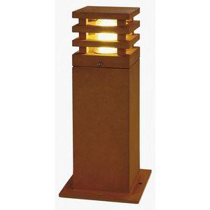 SLV - borne extérieur rouille rusty square ip55 h40 cm - Leuchtpfosten