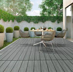 Werzalit - coudy grey - Terrassenboden