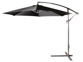 CEMONJARDIN - parasol déporté ø 300 noir - Ampelschirm