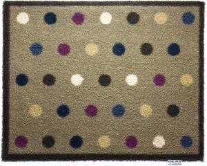 HUG RUG - tapis en fibres naturelles à pois 65x85 cm - Fussmatte