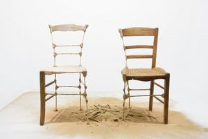 STÉPHANE THIDET - installation - chair - Skulptur