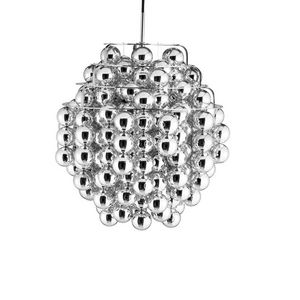 Verpan - ball silver - suspension design iconique ø 44 cm - Deckenlampe Hängelampe