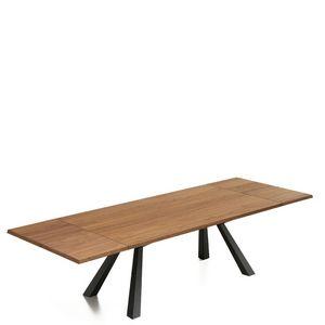 Midj - zeus - table extensible en noyer de 2m à 3m - Ausziehtisch