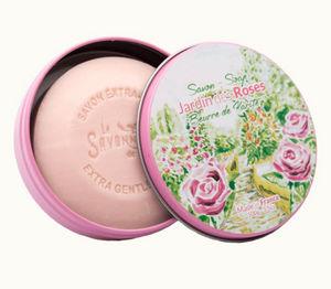 LA SAVONNERIE DE NYONS - boite métal jardin des roses - Seife
