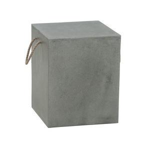 JOE SAYEGH - cube gris foncé - Hocker