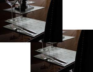 POSH - silver leaf placemat silver - Tischset