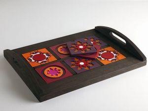 IMAGES D'ORIENT - plateau avec dessous de verre interchangeables - Tablett