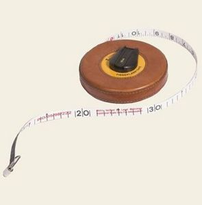 Mufti - havana leather tape measure - Maßband