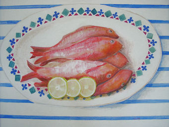Design Atelier - fish lemon - Dekobilder