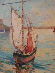 Jacque's Antiques -  - Ölgemelde Auf Leinwand Und Holztafel