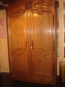 Grand Papa Antiquites - armoire à chéne clair - Kleiderschrank