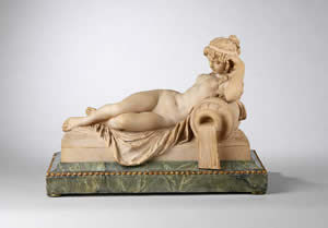 F P FINE ART - figure of a reclining nymph - Kleine Statue