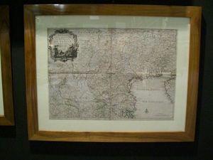 LA CONGREGA ANTICHITA' - stampa raf carta geografica del veneto - Landkarte